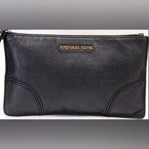 MICHAEL Michael Kors Black Pebble Leather Clutch